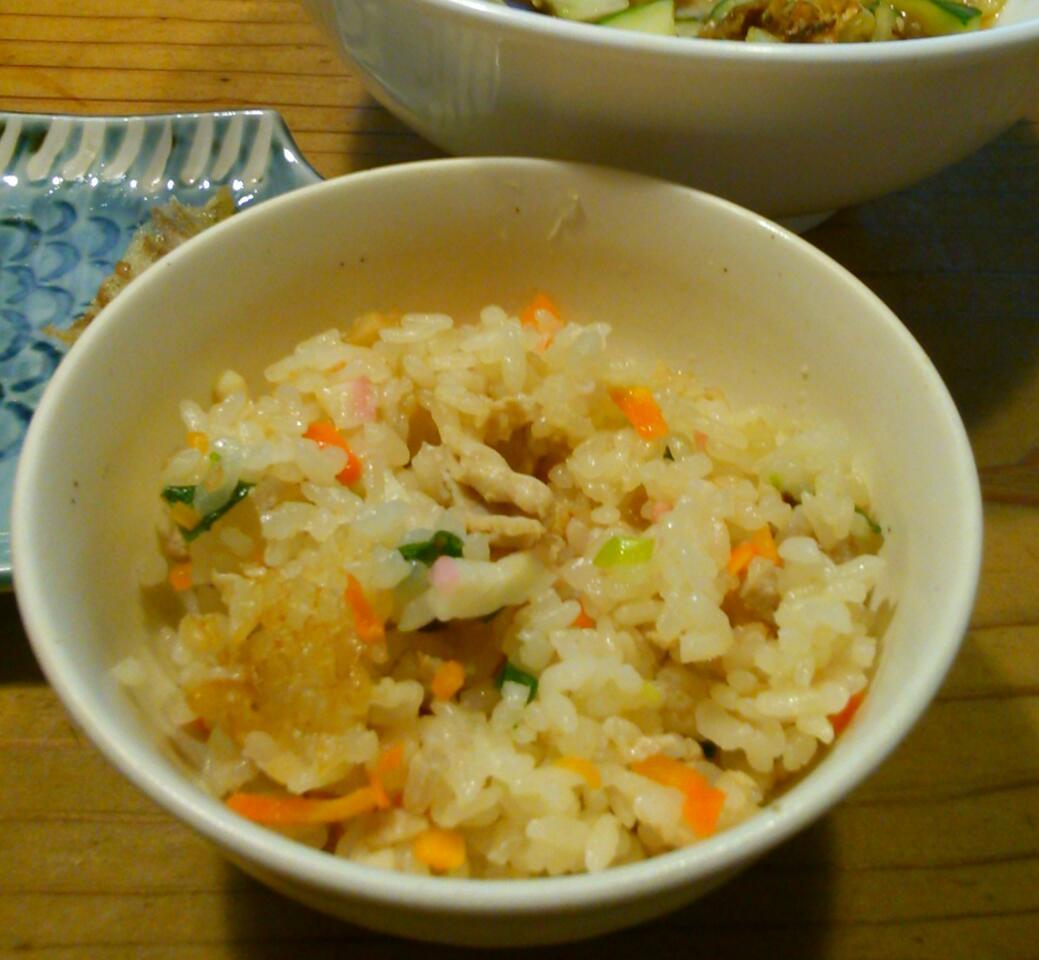 クファジューシー(沖縄風炊き込みご飯)を作ってみた