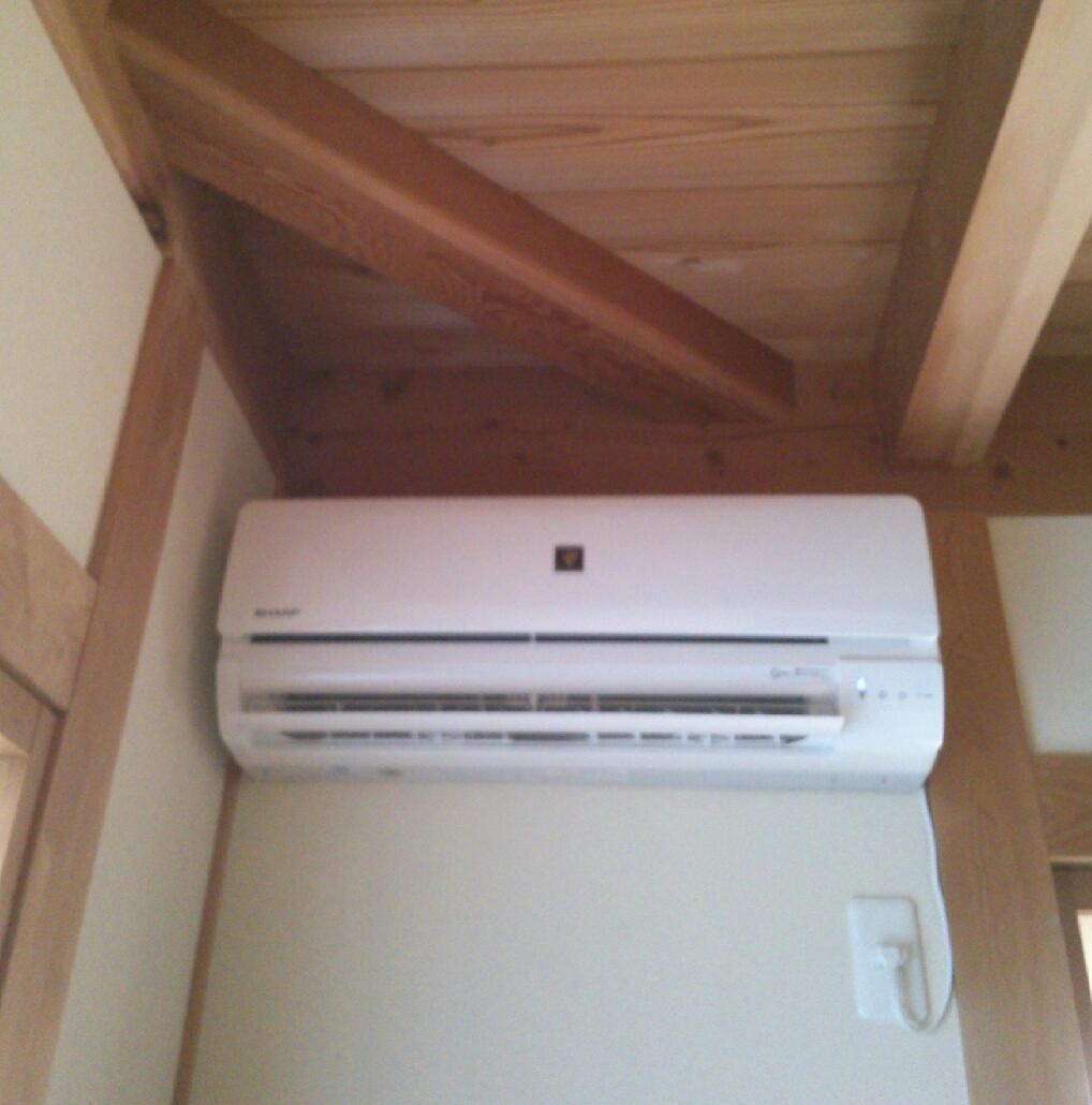 エアコンが新しくなりました